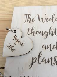 wedding planner journal personalised wedding planner wooden cover journal notebook notepad