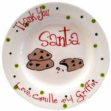personalized ceramic plate thank you santa cookies personalized ceramic plate made it