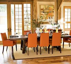 Orange Dining Room   Trendy Dining Rooms With Spunky - Burnt orange dining room