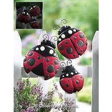 Metal Bugs Garden Decor 19 Best Ladybugs Images On Pinterest Garden Ladybug Crafts And