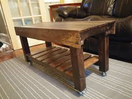 coffee table rustic coffee tables with wheels table casters