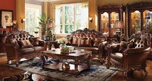 Formal Living Room Set Furniture Vendome Formal Living Room Set In Cherry