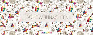 designer weihnachtskarte frohe weihnachten wünscht die chairlines medienagentur