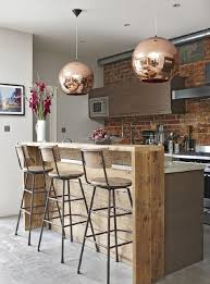 Wooden Bar Table Astounding Kitchen Bar Silver Restaurant Rounded Pendant