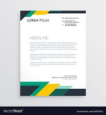 Letterhead Design Template modern letterhead design template with geometric vector image
