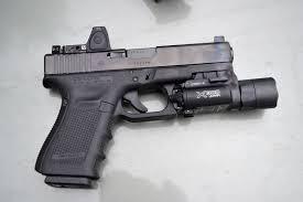 surefire light for glock 23 glock 23 gen 4 with the trijicon rmr 3 5 moa youtube