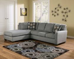 Ashley Furniture Grenada Sectional Zella Stationary Chaise Sectional In Gray By Ashley Home Gallery