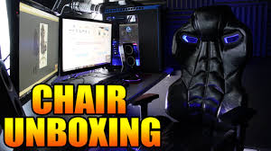 unboxing my new gaming chair earthcroc y 3000 alien chair