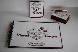 chocolat personnalisã mariage livre d or mariage thème chocolat le de artcadeaux