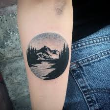 image result for mountain circle tattoo tattoo goals pinterest