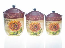 Red Kitchen Canisters Sets 100 Sunflower Canisters For Kitchen 100 Ceramic Kitchen