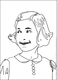 coloring page for real kids annelise
