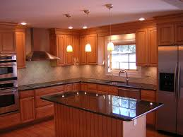kitchen design exciting wooden cabinets and island design design