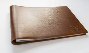 leather bound scrapbook the great gift of a personalised leather scrapbook hartnack