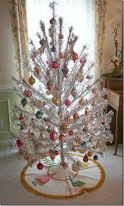 silver and metallic tinsel trees treetopia