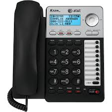 at u0026t corded telephone with digital answering system caller id