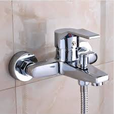 online get cheap wall mounted thermostatic bath shower mixer wall mounted bathroom faucet bath tub mixer tap shower faucet chrome finish thermostatic shower mixer hot