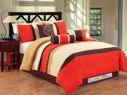 Orange Bed Sets Bright To Burnt Orange And Brown Comforter Bedding Sets