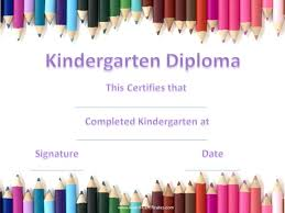 preschool graduation certificate kindergarten certificates