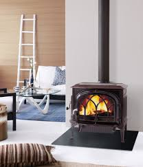 furniture charming brown jotul wood stove fireplace before the