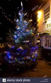 christmas tree outside pub duke of york cowes isle of wight