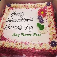 write name on women u0027s day cake happy birthday cake images