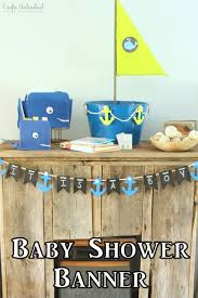 diy baby shower banner nautical themed crafts unleashed