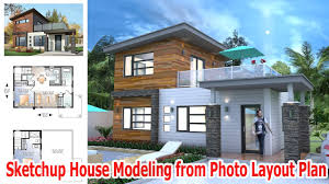 home layout sketchup house modeling from photo layout plan
