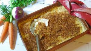 root vegetable gratin is a tasty side dish for thanksgiving