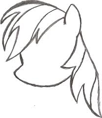 my little pony sketch rainbow dash u0027s head by ancientowl on