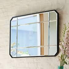 Beveled Bathroom Mirror by Beveled Wall Mirror West Elm