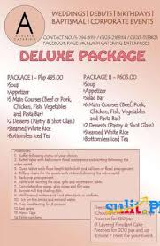 affordable wedding catering wedding packages in quezon city tbrb info tbrb info