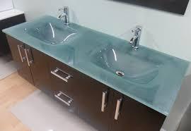 Glass Bathroom Vanity Sink Modern Bathroom Vanity Glass Sink Integrated Glass