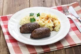 niederl ndische k che selbst gemachte rindfleischrolle niederländische küche stockbild