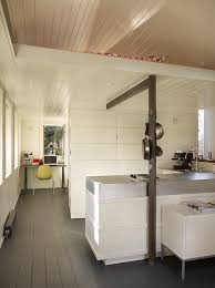 kitchen and office in garage conversion beadboard or painted t