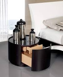 bedroom round modern unique nightstands with wooden bed home