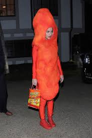 katy perry dressed up as in a cheeto costume for halloween 2014