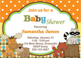 designs exquisite sample baby shower invitation text with brown
