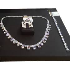 necklace designs silver images Designer silver necklace set chandi ka har set gems jewels jpg