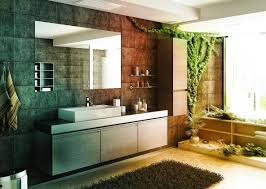 Asian Bathroom Design by Colorful Japanese Style Bathroom Design With Large Mirrors Home