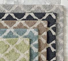 bathroom rugs ideas patterned bathroom rugs marlo bath rug pottery barn rug design