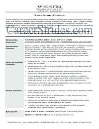 counseling resume objective examples high guidance
