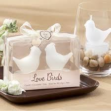 tea wedding favors birds white bird tea light candles