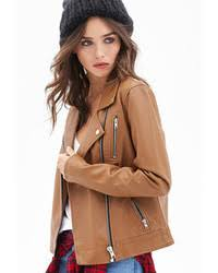 light brown leather jacket womens women s tan leather jackets by forever 21 women s fashion