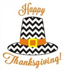 chevron pilgrim hat happy thanksgiving
