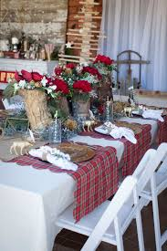 modern vintage christmas themed party