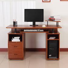 Large Secretary Desk by Homcom Computer Table 2 Drawer Pc Desk Home Office Workstation