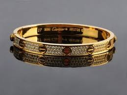 cartier bracelet diamond images Cartier yellow gold love bracelet with paved diamonds free jpg