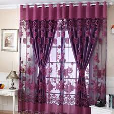 Door Curtains 2017 New Arrival 250cmx100cm Print Floral Voile Door Curtain