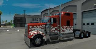 new kenworth w900 kenworth w900 inferno skin mod american truck simulator mod